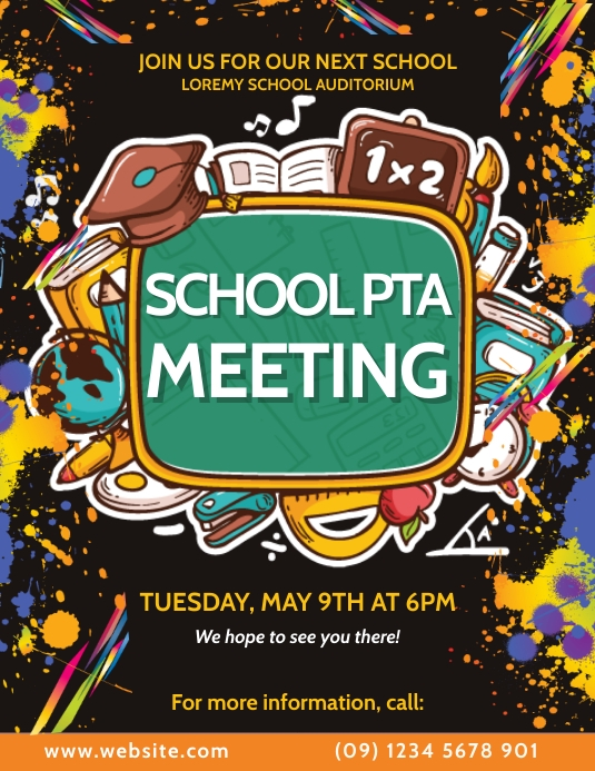 Parent Teacher Association Meet Up Flyer Pamflet (Letter AS) template