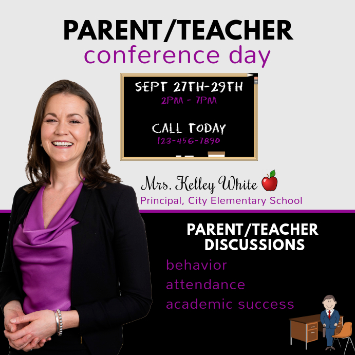 Parent Teacher Conference Template Postermywall