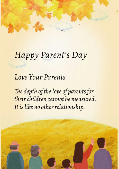 parents day A4 template