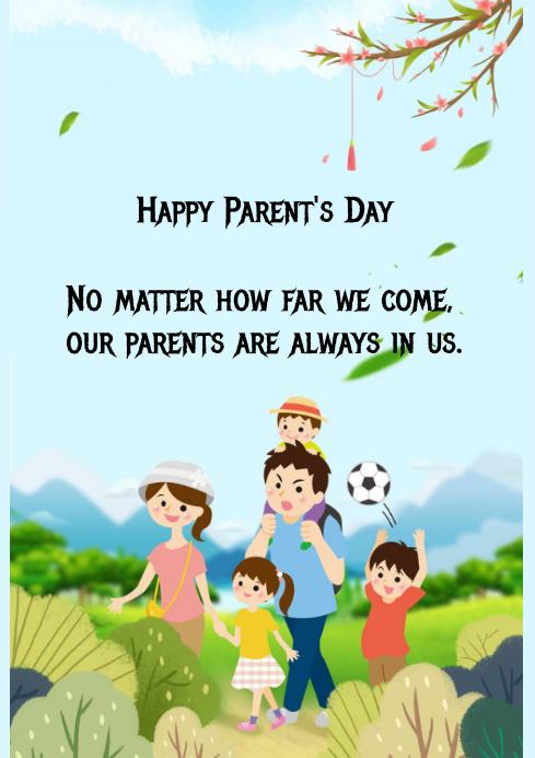 parents day poster A4 template