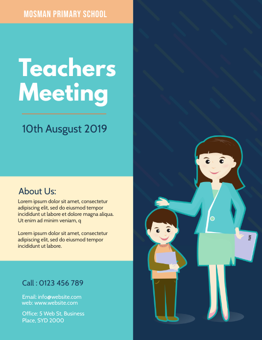 Parents meeting flyer template