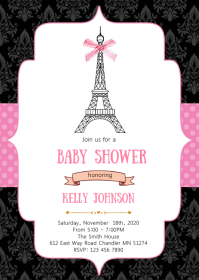 Paris baby shower invitation
