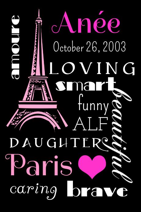 Paris Name Poster