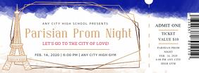 Paris Themed Prom Night Ticket
