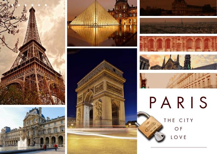 Paris Travel Photo Collage