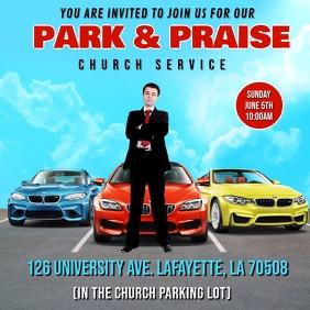 PARK & PRAISE CHURCH SERVICE FLYER TEMPLATE