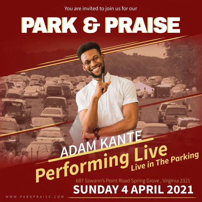 Park and Praise Car Concert Ad Instagram 帖子 template