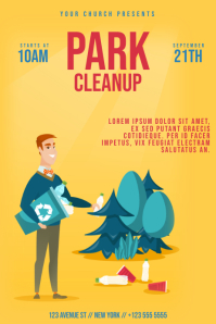 Park Cleanup flyer Template