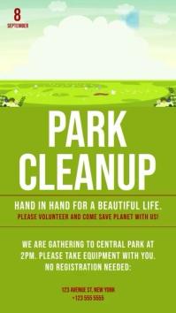 Park Cleanup Vertical Video Banner Template Digital na Display (9:16)