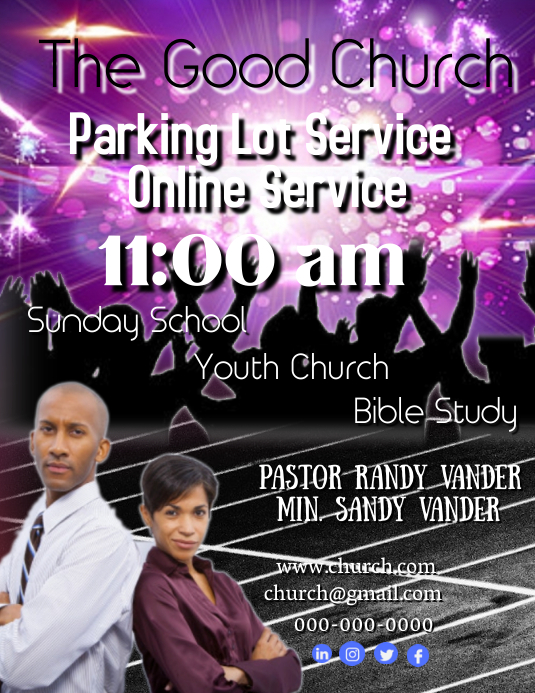 Parking Lot Online Service Flyer (Letter pang-US) template