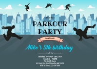 Parkour birthday A6 template