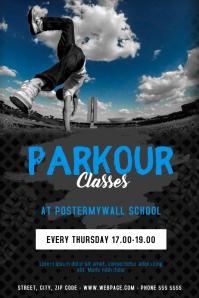 Parkour Break dance Classes Flyer Template