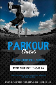 Parkour Break dance Classes Flyer Template