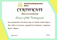 Participation Certificate A4 template