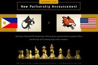 Partnership Announcement Póster template
