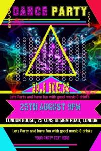 Party, DJ, Music, Birthday, DANCE, Wedding, Flyer, Poster