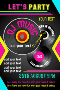 Party, DJ, Music, Birthday, Flyer, Poster