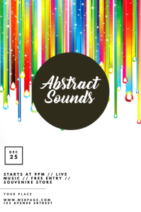 Party Abstract Sounds Party Template