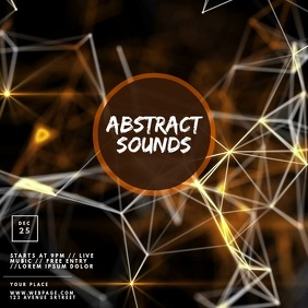 Party Abstract Sounds Video Ad Template