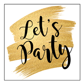 Party Advert Glitter gold glam instagram bar