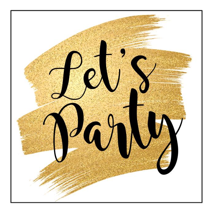Party Advert Glitter gold glam instagram bar