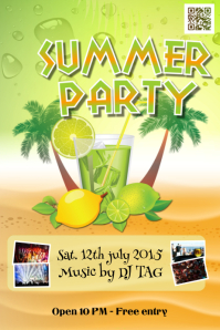 Party and cocktail flyers template - Theme: summer & drinks