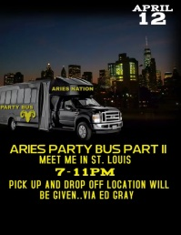 party bus flyer