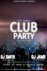 party club event flyer template