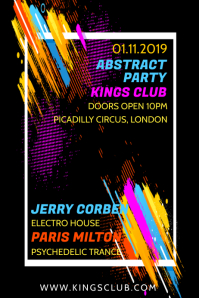 Party Club Event Poster Template