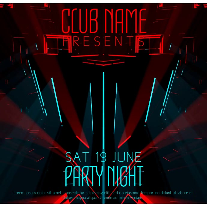 Party Club Event Video Template