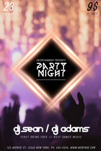 Party Dance Night Flyer Template for Party Night Club