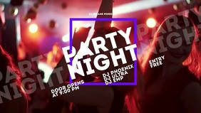 party Facebook Cover Video (16:9) template