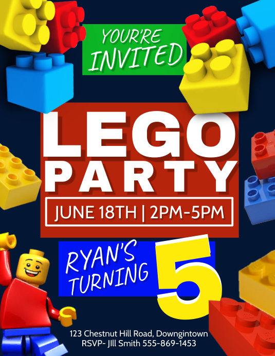 party Flyer (Letter pang-US) template