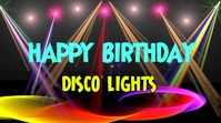 Party Disco lights for birthday background Pantalla Digital (16:9) template