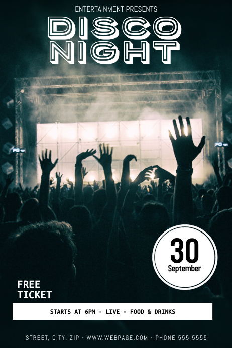 Party Disco Night Flyer Template