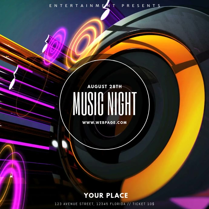 Party Dj Club Video Template Instagram