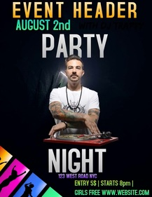 PARTY EVENT DIGITAL FLYER AD TEMPLATE