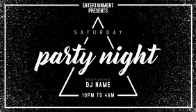 Party Event Flyer Business Card template