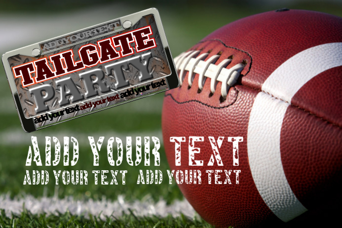 TAILGATE PARTY EVENT FOOTBALL GAME FLYER