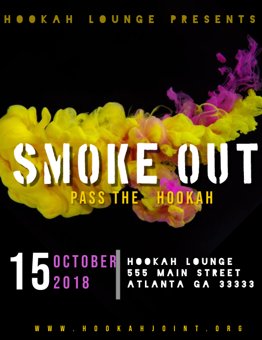 Party Event Hookah Template