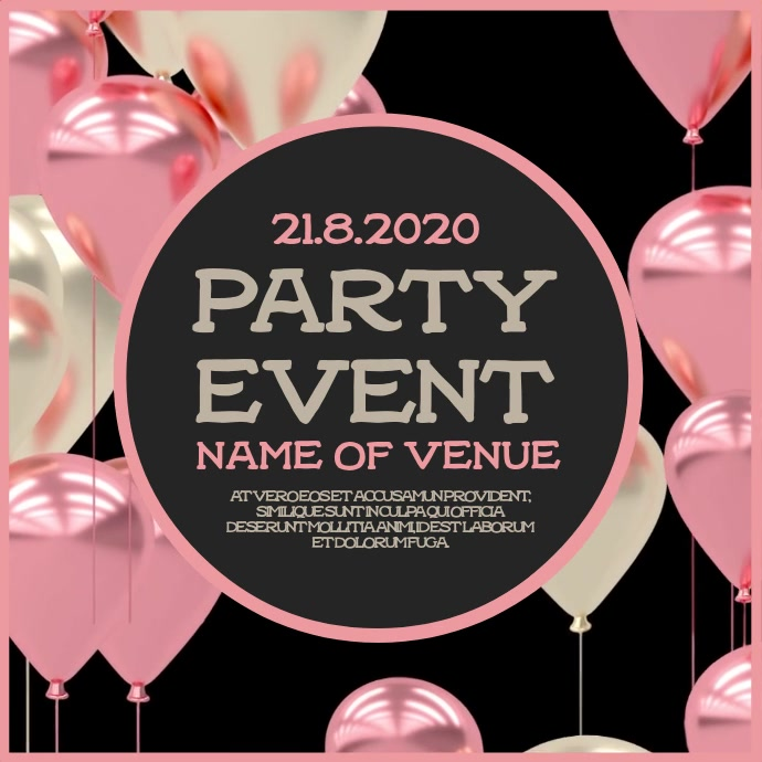 Party Event Instagram Video Template