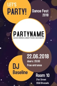 Party event poster