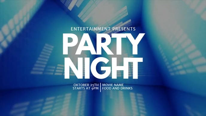 Party facebook video event template