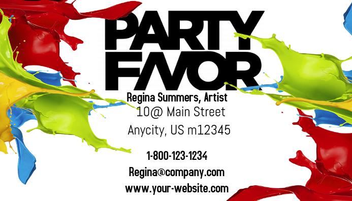 Party Favor Business Card Kartu Bisnis template