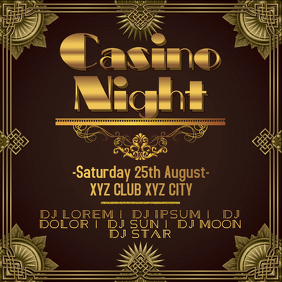 Party Flyer, Template, Casino Party,