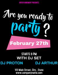 Party flyer black background