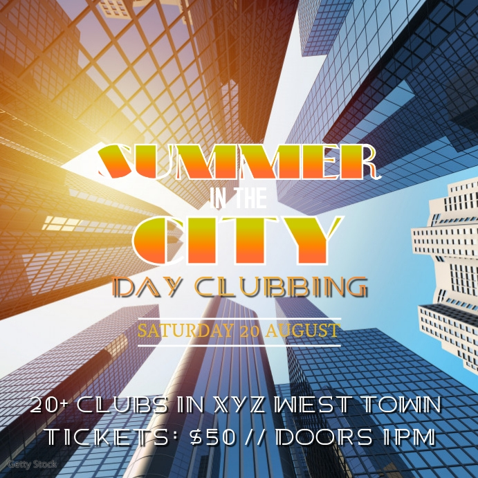Party Flyer Daydance Summer Template Club