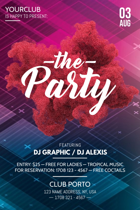 Party Flyer Poster template