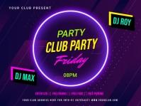 Party flyer Voorlegging template