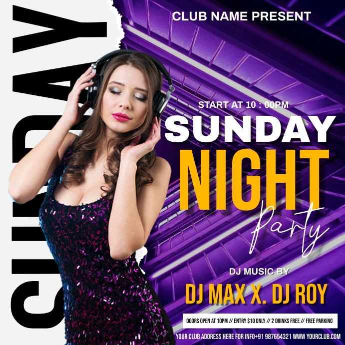 Party flyer Wpis na Instagrama template